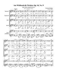 Zwölf Lieder und Romanzen, Op.44: Nr.9 Am Wilbach die Weiden by Johannes Brahms