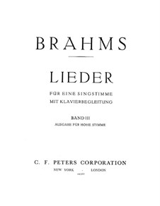 Ausgewählte Lieder III: Ausgewählte Lieder III by Johannes Brahms