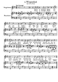 Nr.4 Wiegenlied: Für Stimme und Klavier (Deutscher Text) by Johannes Brahms