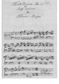 Solo für Flöte und Basso Continuo: Solo für Flöte und Basso Continuo by Friedrich der Große