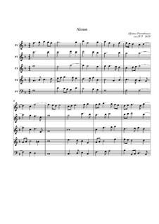 Alman für Streicher: Alman für Streicher by Alfonso Ferrabosco (der Jüngere)