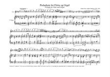 Präludium in g-Moll für Flöte und Orgel: Partitur by Johann Peter Emilius Hartmann