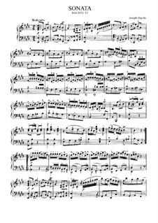 Sonate für Klavier Nr.15 in E-Dur, Hob.XVI/13: Für einen Interpreten by Joseph Haydn