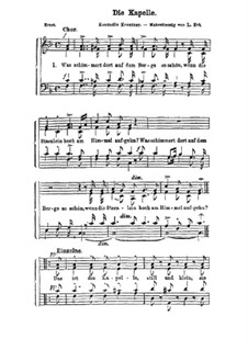Zwei Chöre: Nr.2 Die Kapelle by Konradin Kreutzer