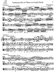 Variationen über ein Thema von Haydn, Op.56a: Variationen Nr.4, 7, 8 – Bratschenstimme by Johannes Brahms