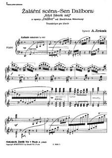 Dalibor, B.133 T.96: Szene 'Když Zdaněk můj', für Klavier by Bedřich Smetana