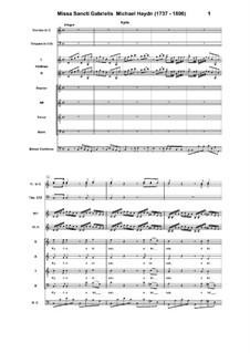 Mass Sancti Gabrielis in C Major: Mass Sancti Gabrielis in C Major by Michael Haydn