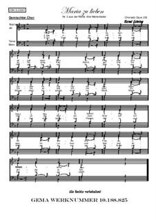 Alte Marienlieder Nr.2, Maria zu lieben, Op.232: Alte Marienlieder Nr.2, Maria zu lieben by folklore