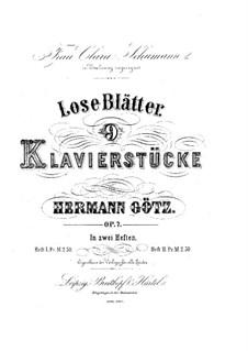 Neun Klavierstücke 'Lose Blätter', Op.7: Nr.1 Durch Feld und Buchenhallen by Hermann Götz