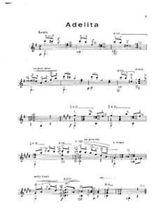 Adelita: Für Gitarre by Francisco Tárrega