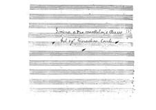 Sinfonie für zwei Mandolinen und Basso Continuo: Partitur by Gioacchino Cocchi