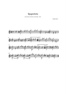 Spagnoletta für Gitarre: Spagnoletta für Gitarre by Carlo Calvi