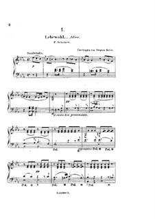 Lebewohl: Version für Klavier by Franz Schubert