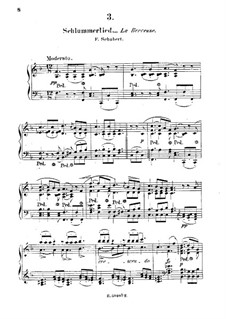 Schlaflied (Schlummerlied), D.527 Op.24 No.2: Bearbeitung für Klavier by Franz Schubert