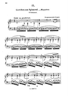 Gretchen am Spinnrade, D.118 Op.2: Bearbeitung für Klavier by Franz Schubert