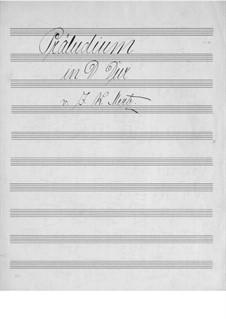 Präludium in D-Dur: Für Gitarre (Manuskript) by Johann Kaspar Mertz
