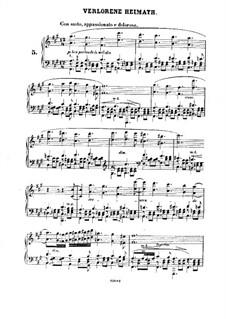 Douze Etudes de Salon, Op.5: Etüde Nr.5 Verlorene Heimath by Adolf von Henselt
