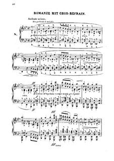 Douze Etudes de Salon, Op.5: Etüde Nr.8 'Romanze mit Chor-Refrain' by Adolf von Henselt