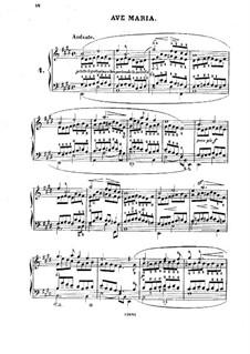 Douze Etudes de Salon, Op.5: Etüde Nr.4 Ave Maria by Adolf von Henselt