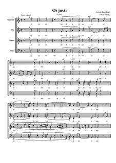 Os justi, WAB 30: Für gemischten Chor by Anton Bruckner