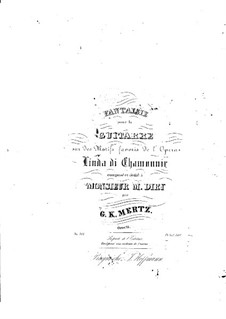 Fantasie über Thema aus 'Linda di Chamounix' von Donizetti, Op.14: Fantasie über Thema aus 'Linda di Chamounix' von Donizetti by Johann Kaspar Mertz