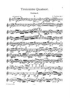 Streichquartett Nr.3 in d-Moll, Op.7: Stimmen by Sergei Taneyev