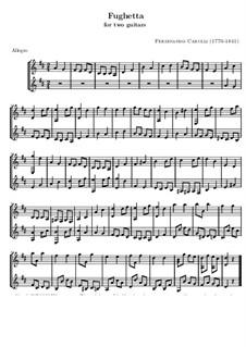 Fughetta für zwei Gitarren: Fughetta für zwei Gitarren by Ferdinando Carulli