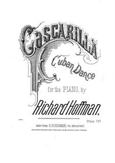 Cascarilla. Cuban Dance for Piano: Cascarilla. Cuban Dance for Piano by Richard Hoffman