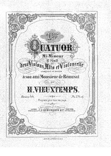 Streichquartett Nr.1 in e-Moll, Op.44: Streichquartett Nr.1 in e-Moll by Henri Vieuxtemps