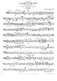 Konzert für Klavier, Violine und Streichquartett, Op.21: Cellostimme by Ernest Chausson