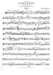 Konzert für Klavier, Violine und Streichquartett, Op.21: Violastimme by Ernest Chausson