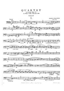 Klavierquartett in A-Dur, Op.30: Cellostimme by Ernest Chausson