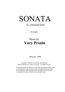 Sonata in classical form, Oр.50: Sonata in classical form by Yury Pronin