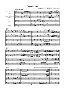 Suite in e-Moll für Bläser und Streicher: Suite in e-Moll für Bläser und Streicher by Fortunato Chelleri