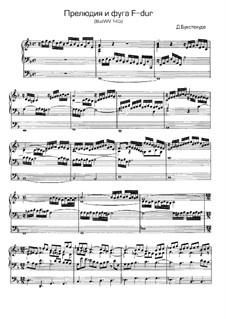 Präludium für Orgel in F-Dur, BuxWV 145: Für einen Interpreten by Dietrich Buxtehude