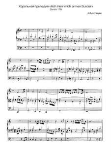 Ach Herr, mich armen Sünder, BuxWV 178: Ach Herr, mich armen Sünder by Dietrich Buxtehude