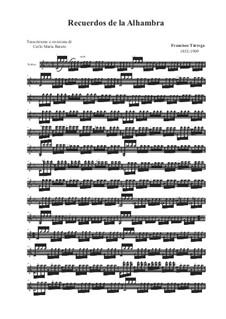 Erinnerungen über Alhambra: Für Violine (oder Bratsche) by Francisco Tárrega