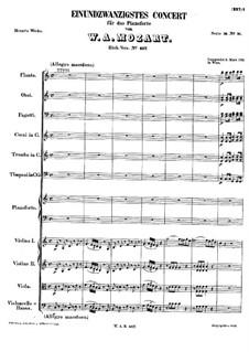 Konzert für Klavier und Orchester Nr.21 in C-Dur, K.467: Teil I by Wolfgang Amadeus Mozart