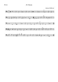 Pavane für Streicher (F-Dur): Bassus by Anthony Holborne