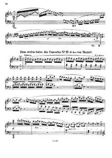 Konzert für Klavier und Orchester Nr.27 in B-Dur, K.595: Kadenzen by Wolfgang Amadeus Mozart