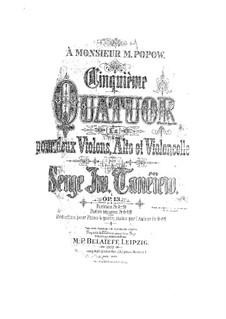 Streichquartett Nr.5 in A-Dur, Op.13: Streichquartett Nr.5 in A-Dur by Sergei Taneyev
