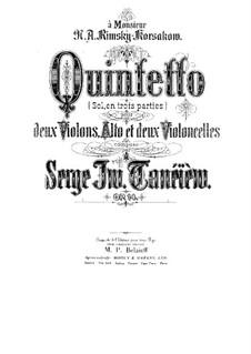 Streichquintett Nr.1 in G-Dur, Op.14: Stimmen by Sergei Taneyev