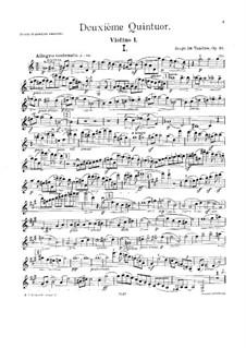 Streichquintett Nr.2 in C-Dur, Op.16: Stimmen by Sergei Taneyev
