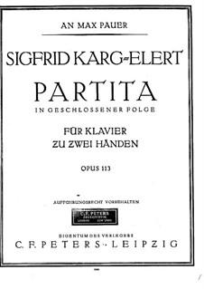 Partita in g-Moll für Klavier, Op.113: Für einen Interpreten by Sigfrid Karg-Elert