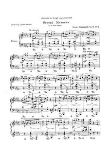 Mazurka für Klavier Nr.2 in b-Moll, Op.8: Mazurka für Klavier Nr.2 in b-Moll by Genari Karganoff