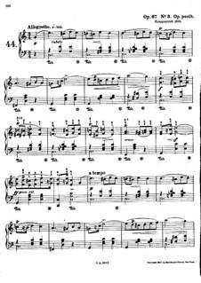 Mazurkas, Op. posth.67: Nr.3 in C-Dur by Frédéric Chopin