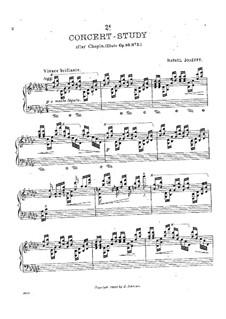 Konzert-Studie (nach Etüde Nr.5 von Chopin) : Für Klavier by Rafael Joseffy