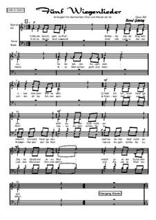 Abendliederzyklus. Fünf Wiegenlieder, Op.292: Abendliederzyklus. Fünf Wiegenlieder by folklore
