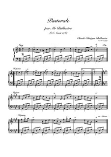 Pastorale für Klavier: Pastorale für Klavier by Claude-Bénigne Balbastre