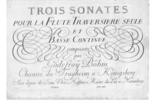 Drei Sonaten für Flöte und Basso Continuo: Drei Sonaten für Flöte und Basso Continuo by Godefroy Böhm